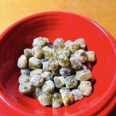 厄除け/甘納豆 💚緑飯💚 ご近所さんから緑色の甘納豆で炊…