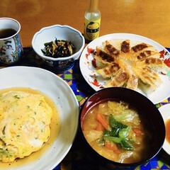 5本セット・ レモスコ 60g×5本 瀬戸内レモン農園(その他調味料、料理の素、油)を使ったクチコミ「🍚我が家の夕食🥢 天津飯。 焼き餃子🥟 …」