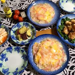 長芋キムチ/手作り/料理/フォロー大歓迎/冬/おうち/... 🍚今日の夕食🥢 天津丼。 竜田揚げ(レモ…(1枚目)