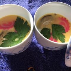 茶碗蒸し/紅白なます/おうち/おうちごはんクラブ/おうちごはん/グルメ/... おせち準備中🍱🥢 手作り茶碗蒸し。