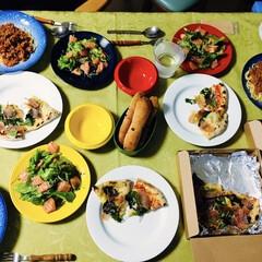 我が家の夕食/テイクアウト応援/母の日プレゼント/ミートソース/テイクアウトピザ/おうちごはん/... 🍝我が家の夕食🍕 母の日第2段だそうで、…