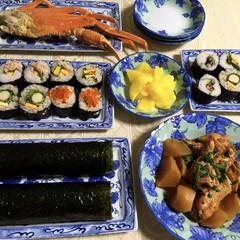 節分/太巻き寿司/恵方巻き/フォロー大歓迎/わたしのごはん/おうちごはんクラブ/... 👹節分夕食🥢 姪と子供たちが遊びに来ての…