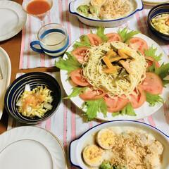 里芋/フォロー大歓迎/わたしのごはん/おうちごはんクラブ/グルメ/フード 🍽今日の夕食🥖 里芋・ブロッコリー・卵グ…