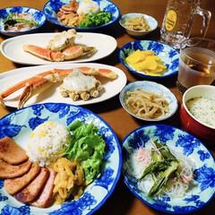 味の素 カップスープ ポタージュ16袋 272g まとめ買い(スープ)を使ったクチコミ「🍚我が家の夕食🥢 蟹。 とうもろこし炊き…」