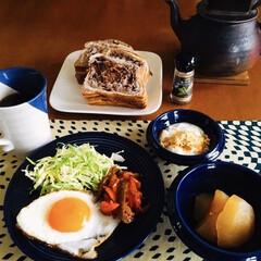 モカコーヒー/我が家の朝ゴパン/調味料ヒハツ/魚肉ハム/キッチン雑貨/おうちごはん/... 🍞我が家の朝ゴパン☕️ チョコデニッシュ…