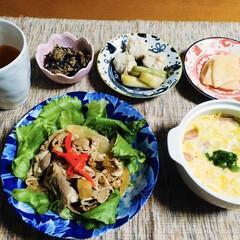 B級グルメ/十和田バラ焼き/我が家の夕食/limiaキッチン同好会 🍚我が家の夕食🥢 十和田バラ焼き。 キャ…