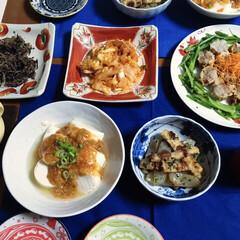 シュウマイ/豆腐/フォロー大歓迎/冬/ごはん/おうちごはんクラブ/... 🍚今日の夕食🥢 寒いので、ちょっとピリ辛…