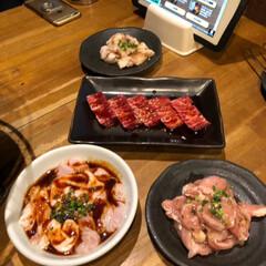 秋田のお土産/焼肉/LIMIAごはんクラブ/LIMIAおでかけ部/わたしのごはん/おでかけ/... 🍚昨夜の夕食🥢 焼肉屋さんで夕食、前沢牛…