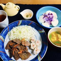 鹿肉/リミアの冬暮らし/セリア/100均/フォロー大歓迎 🍚我が家の夕食🥢 貧血・冷え性に良いとい…