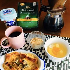 キッコーマン 豆乳おからパウダー(その他インテリア雑貨、小物)を使ったクチコミ「🍞我が家の朝ゴパン☕️ おからパウダー入…」