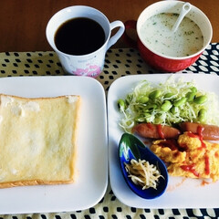 ハインツケチャップ/我が家の朝ゴパン/最近買った100均グッズ/ダイソー/セリア/100均 🍞我が家の朝ゴパン☕️ トースト。 オム…