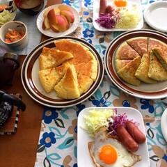 青汁/パンケーキ/あけおめ/フォロー大歓迎/おうち/ごはん/... 今日の朝食🥞 🥣青汁入り🥞焼いてみました…