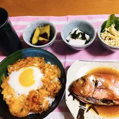 北海道土産/おめで鯛/我が家の夕食/ピンク 🍚我が家の夕食🥢 北海道で👰ウェディング…