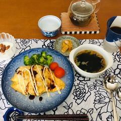 掛川お茶/オムライス/手作り/おうち/ごはん/おうちごはんクラブ/... 🍴今日の夕食🍵 今日は1人夕食。 オムラ…