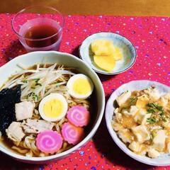 麻婆豆腐/喜多方ラーメン 🍜我が家の夕食🥢 喜多方ラーメン🍜 麻婆…