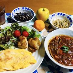 鳥の照り焼き/ビーフシチュー/オムライス/我が家の夕食/スタミナご飯/スタミナ丼/... 🍚我が家の夕食🥢 ビーフシチュー。 オム…