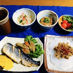 我が家の夕食 🍚我が家の夕食🥢 焼き魚(ニシン)。 春…