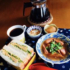 味の素 コンソメ 洋風スープの素 顆粒 容器 170g   味の素(だし、ブイヨン、がらスープ)を使ったクチコミ「🥪我が家の朝ごパン☕️ たまごサンド🥚 …」(1枚目)