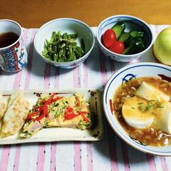 麻婆豆腐/フォロー大歓迎 🍚我が家の夕食🥢 麻婆豆腐。 お好み焼き…