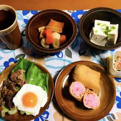 いなり寿司/令和元年フォト投稿キャンペーン/フォロー大歓迎/LIMIAファンクラブ/至福のひととき/LIMIAごはんクラブ/... 🍚昨夜の夕食🥢 いなり寿司。 残り物の生…