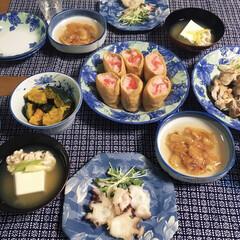 いなり寿司/マグロ/タコ/白子/夕食/海鞘/... 🍚今日の夕食🥢 いなり寿司。 マグロわさ…