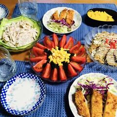 トンカツ/蕎麦粉/フォロー大歓迎 🍚我が家の夕食🥢 トンカツ。 蕎麦粉入お…
