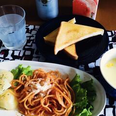 クノール カップスープ バラエティボックス / クノール(スープ)を使ったクチコミ「🍞我が家の朝ゴパン🍽 トースト。 ナポリ…」