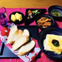 我が家の夕食/バケット/豆腐料理/セダニーニ/簡単/時短レシピ/... 🥖我が家の夕食🍴 バケット。 セダニーニ…