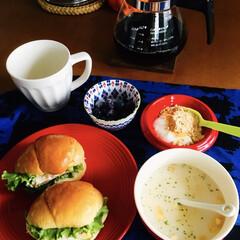味の素 カップスープ ポタージュ16袋 272g まとめ買い(スープ)を使ったクチコミ「🍞我が家の朝ゴパン☕️ 卵サンド🥚 カッ…」