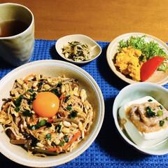 中華丼/我が家の夕食/おうちカフェ 🍚我が家の夕食🥢 ビビンバ風中華丼。 麻…(1枚目)