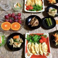 手作り餃子/LIMIAごはんクラブ/フォロー大歓迎/わたしのごはん/おうちごはんクラブ/私の手作り 🍚昨夜の夕食🥢 チーズかまぼこ餃子。 大…