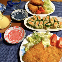 アジフライ/LIMIAごはんクラブ/フォロー大歓迎/わたしのごはん/おうちごはんクラブ 🍚昨夜の夕食🥢 アジフライ。 トマト春巻…