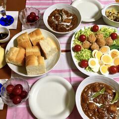 私の手作り/ビーフシチュー/LIMIAごはんクラブ/フォロー大歓迎/わたしのごはん/おうちごはんクラブ 🍽昨夜の夕食🍽 ビーフシチュー。 竜田揚…