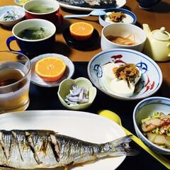 我が家の夕食/地元食材/焼き魚/鰊数の子入/おうちごはん/うちの定番料理 🍚我が家の夕食🥢 焼き魚(鰊数の子入) …