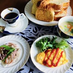 キリマンジャロコーヒー/根野菜スープ/デニッシュ/我が家の朝ゴパン/おうちごはん/うちの定番料理 🍞我が家の朝ゴパン🥄 デニッシュパン。 …