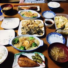 ミツカン 追いがつおつゆ 1L 1本 | ミツカン(めんつゆ、そばつゆ)を使ったクチコミ「🍚我が家の夕食🥢 焼き魚(鯖の醤油麹漬け…」(1枚目)