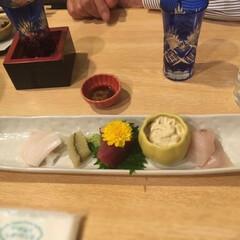 創作料理/フォロー大歓迎/おうちごはんクラブ/おうちごはん/おでかけ/グルメ/... 昨夜の外出先での夕食🌙 ミイラ化した魚が…