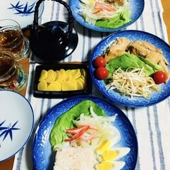 手羽先/鮭炊き込みご飯/フォロー大歓迎 🍚我が家の夕食🥢 鮭炊き込みご飯。 手羽…