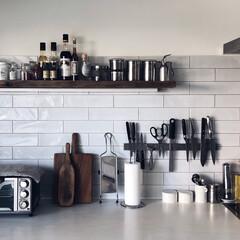 キッチン/キッチン雑貨/マンションリノベーション/リフォーム 良く使うものは棚に置いて 飾るよりも超実…