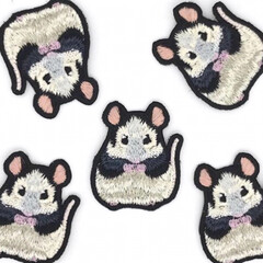 げっ歯類/パンダマウスおにぎり三姉妹/ネズミ/パンダマウス/小動物/LIMIAペット同好会/... うちのパンダマウスちゃんをモデルにアトリ…