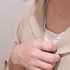 RETRO GIRL/指輪/リング/華奢ネックレス/コーディネート/コーデ/...  最近のお気に入りは 華奢なアクセサリー…
