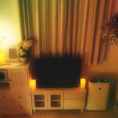 フェイクグリーン/キャンドルライト/白家具/寝室インテリア/寝室/インテリア/...
