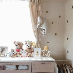 子ども部屋/ベビールーム/ナチュラルインテリア/インテリア雑貨/部屋作り/賃貸インテリア/... 子ども部屋あれこれ🧸 星をテーマに雑貨を…