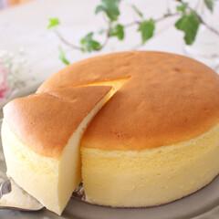 チーズケーキ/おやつ/手作り/ケーキ/グルメ/フード/... スフレチーズケーキ
