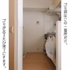 家事動線重視/ダンシャリアン/断捨離/オープン収納/ディスプレイ収納/吊るす収納/... ゴミ箱を部屋に置かなくなり、見た目も導線…(8枚目)