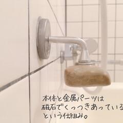 ダルトン ソープホルダー マグネットソープホルダー Magnetic soap holder 石鹸台 石鹸置き ダルトン DULTON CH12-H463 固形石けん専用   DULTON(せっけん)を使ったクチコミ「今年のベストバイ。  石鹸置きひとつでも…」(9枚目)