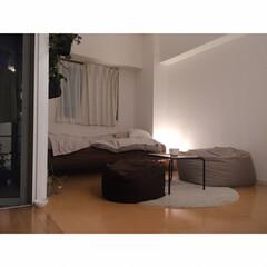 LEDライト/無印良品/間接照明のある暮らし/猫と一人暮らし/猫と賃貸/猫とインテリア/... 現在の昼と夜を撮ってみました。 …(2枚目)