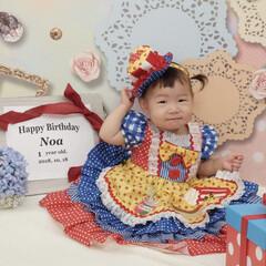 スタジオアリス/一歳の記念撮影/バースデーフォト/撮影/お姫様/ニトリ/... 1歳のお誕生日撮影♡