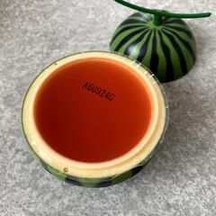 おうちご飯/お気に入りの食器/こだわりのテーブル 可愛い容器に入ったゼリー☆ (タカノフル…