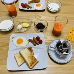 コーヒードリップ ブレンドセット 70袋   タソガレ(コーヒー豆(豆挽き済))を使ったクチコミ「朝食☆   『小倉トーストが食べたい』 …」(3枚目)
